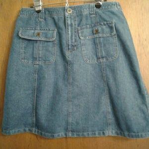 Cherokee Denim Jean Skirt Size 14